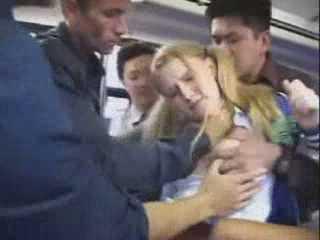 Cheerleader Groped In A Public Bus