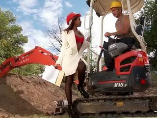 Hot Building Inspector Receiving Bribes In Her Black Asshole