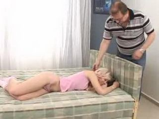 Pervert Daddy Awake Blonde Teen and Fuck her