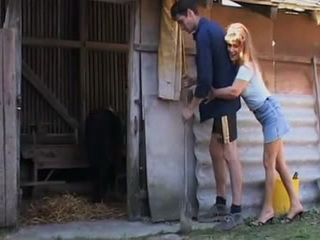 Horny Mature Peasant Woman Corners Farm Boy and Gets Roughest Anal In Her Life