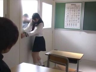 Schoolgirl Gets Locked in The Classroom And Fucked By Every Nerd In A Room