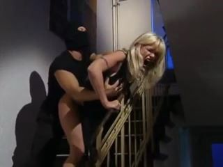Busty Blonde MILF Gets Brutally Fucked By Masked Thief Without Mercy