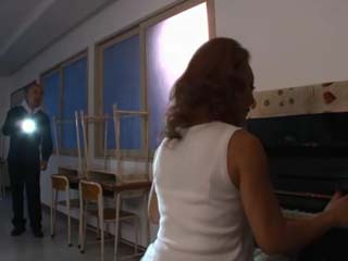 School Janitor Find Piano Teacher Minegishi Fujiko Working After Hours And Gets Swooped