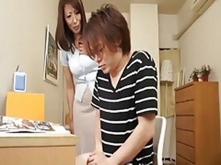 Busty Milf Mom Enter Without Knocking And Catch Boy Masturbating