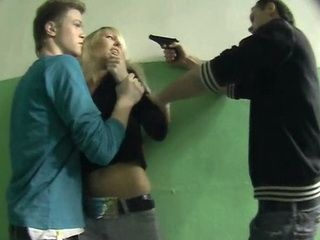 With A Gun Pointed To Her Head Russian Blonde Forced On Anal