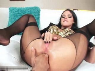 Huge Toys And Big Cock Opened Wide Brunettes Asshole