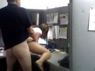 Couple Caught On Hidden Cam While Having Office Sex In Working Time