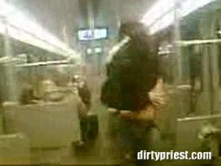 Girl Going Wild In A Public Train