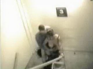 Real Stairway Sex Secretly Taped