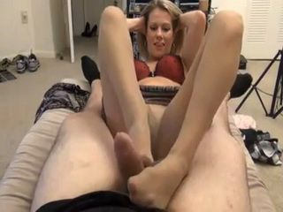 Dedicated Stepmom In Stockings Helps To Her Loving Step Son To Cum