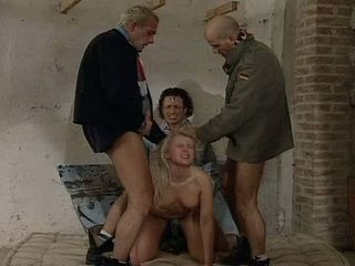 Poor Blonde Gets Anal Gang Banged In Abandoned House By Three Thugs