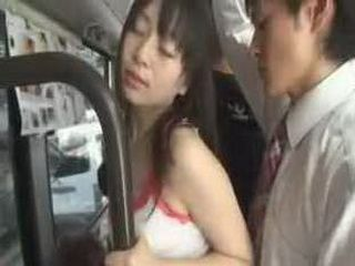 Molester Fuck Sensitive Young Wife in Crowded Bus 2