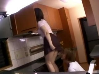 Stepmom Chisato Shoda With No Panties Attacked and Fucked By her Stepson