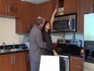 Sons Future Wife Surprised In The Kitchen By Husband Father Early In The Morning
