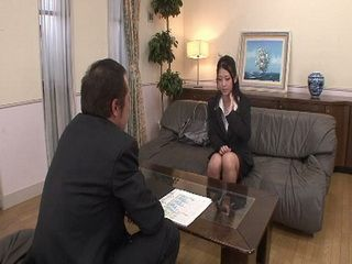 Pervert Japanese Boss Demand Something Unthinkable From Her On Job Interview