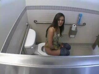 Brunette Teen Wasnt Alone In Toilet