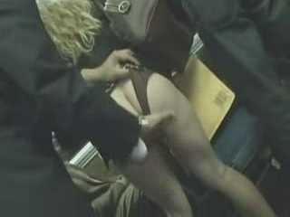 Horny Guy Is Molesting Girl In A Bus