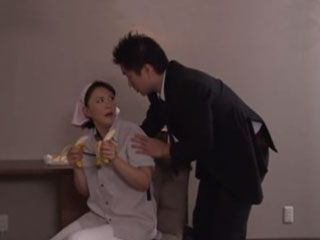 Hotel Guest Busted Milf Maid Sucking Two Bananas  Hitomi Enjoh