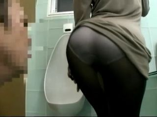 Smoking Hot CFNM Dry Sex With Stranger Girl In Pantyhose In the Public Toilet