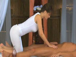 Hot Milf Masseur With Natural Boobs Gives Erotic Massage And Gets Fucked