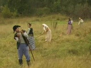 Working In a Field Turns Into Wild Orgy