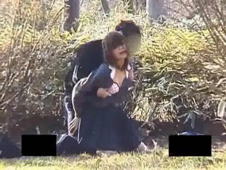 Japanese Students Caught Fucking In A Public Park