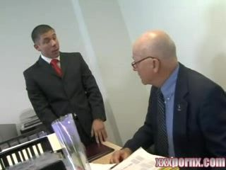 Old Boss and His Assistant Anal Fuck Secretary In Office