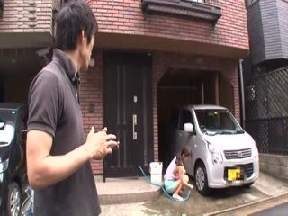 Accident Passerby Couldnt Resist Busty Japanese Girl Washing Her Car And Fucked Her In A Garage