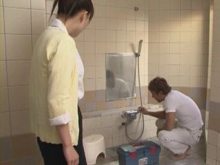 Home Alone Housewife Kaori Saejima Cuckolds Her Hubby With Plumber