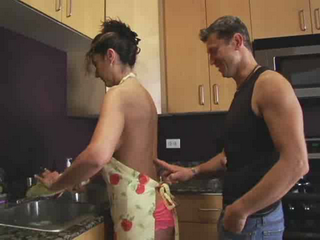 Hot Housewife Gets Fucked In The Kitchen While Preparing Breakfast