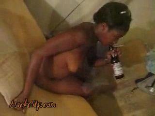 Alcoholic Amateur Mature Ebony Gets Fucked