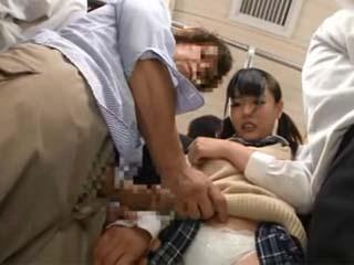 Rough Sexual Assault In Public Bus For Unprotected Schoolgirl