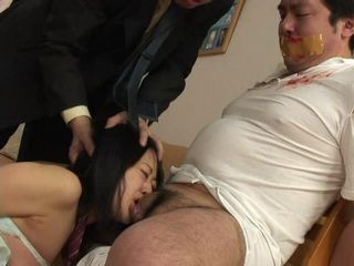 Ruthless Debt Collector Forced Schoolgirl To Suck Off Her Stepdad Before He Fucked Her Rough Uncensored