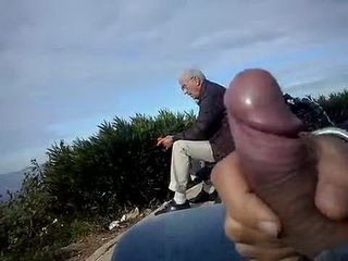 Churlish Boy Flashes His Dick On Shocked Granny Couple In The Park