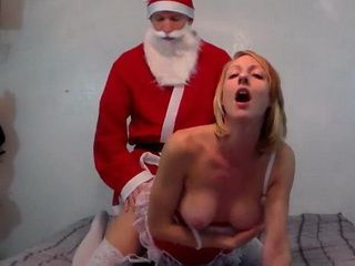 Santa Claus Pounding The Blonde Santa Helper