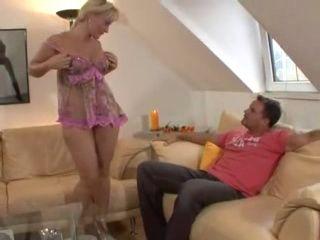Hot German Mature Blond MILF Fucks Guy