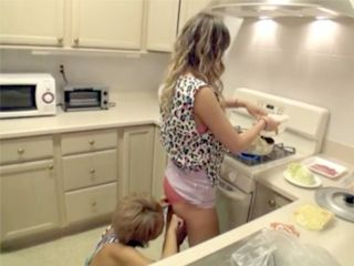 Two Lesbians Friends Having Romantic Dinner And After Great Sex