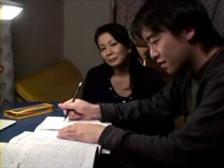 Experienced Stepmother Chizuru Iwasaki Knows How To Reward Teenage Stepson For Being a Good Student