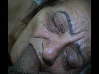 Amateur Granny Mouthful Cumshot After Anal Fuck