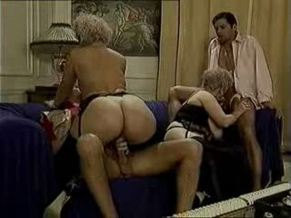 Two Busty Matures Fucks Two Guys
