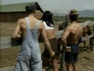 Bisexual Threesome at Farm