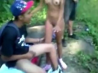 Latin College Teens Tape Themselves Gangbanging Their Classmate After Classes Outdoor
