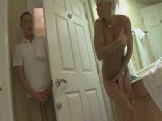 Boy Accidentally Walked On Big Boobed MILF Mom Showering