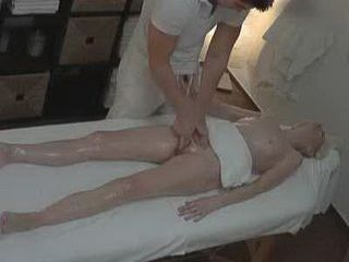 Amateur Blonde MILF Gets Caught On Hidden Cam Fucked On Massage Table