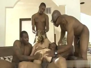 White Milf Ass Was In Serious Trouble To Satisfy Demandable Black Studs