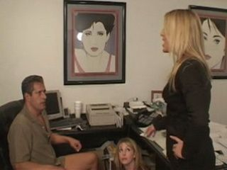 Wife Caught Her Husband In The Office In Very Unpleasant Situation With Some Teen Blonde