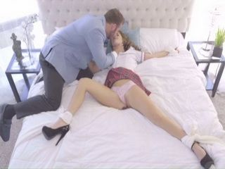 Cute Schoolgirl Like Professors Big Dick Very Deep In Her Young Wet Pussy And Ass