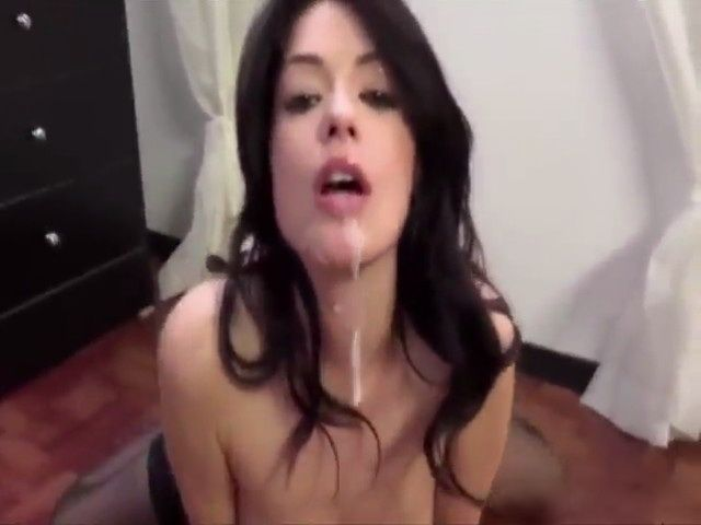 Absolutely beautiful brunette girl sucking dick and getting a facial love...