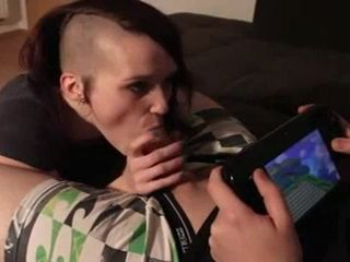 Boy Gets Interrupted While Playing Games By His Sisters Punk Friend