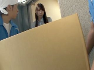 Two Perv Delivery Guys Unwillingly Fucked Poor Asian Girl